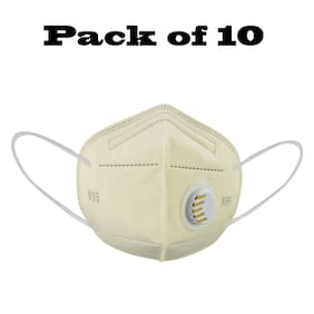 Altek Anti Pollution Activate  N95 Face Mask Yellow (Pack of 10)