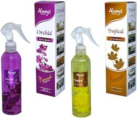 Always Perfumes Premium Mogra & Morning Mist Natural Fragrance Air Freshener 250ml (Pack of 2)