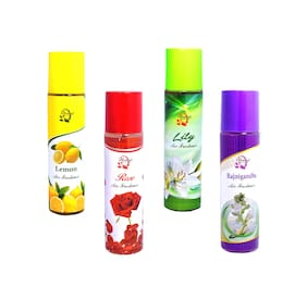 Always Perfumes Air Freshener Lemon/Lilly/Rajnigandha/Rose 250ml (Pack of 4)
