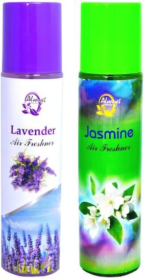 Always Perfumes Jasmine 250ml & Lavender 250ml 4in 1 Natural Fragrance Air Freshener (Pack of 2)