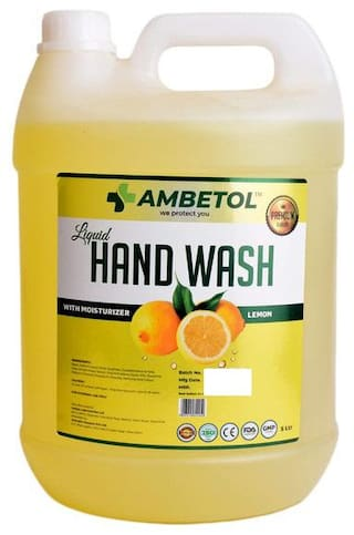Ambetol Liquid Handwash With Moisturizer Enriched with the Goodness of Lemon-5 L (Pack Of 1)