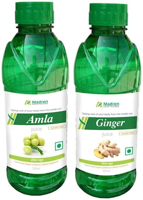 Madren Healthcare Amla & Ginger Juice 500ml. (Combo Pack)