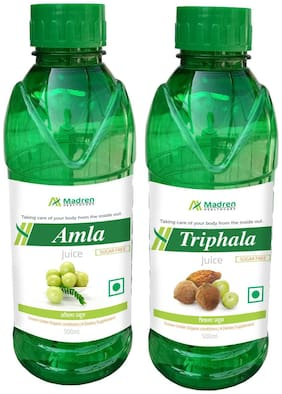 Madren Healthcare Amla & Triphala Juice 500ml. (Combo Pack)