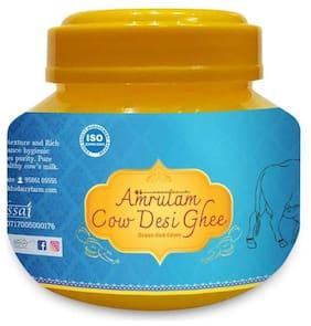 Amrutam Mukhia A2 Desi Cow Ghee | Certified A2 Ghee | Pure Desi ghee | Natural with High Nutritional Value Direct Form Farm (250 ml)