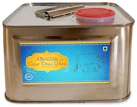 Amrutam A2 Desi Cow Ghee | Certified A2 Ghee | Pure Desi ghee | Natural with High Nutritional Value Direct Form Farm. (2 Litre)
