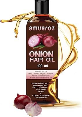 Amueroz 100% Pure & Natural Onion Hair Oil For Hair Regrowth oil 100 ml