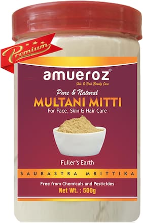Amueroz Multani Mitti Powder for Face/Hair and Skin Care (Fuller Earth) 500g ( 100% Pure and Natural )