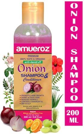 Amueroz Red Onion Shampoo for Anti Dandruff/Control Hair fall & Promotes Hair Growth Men & Women (200 ml)