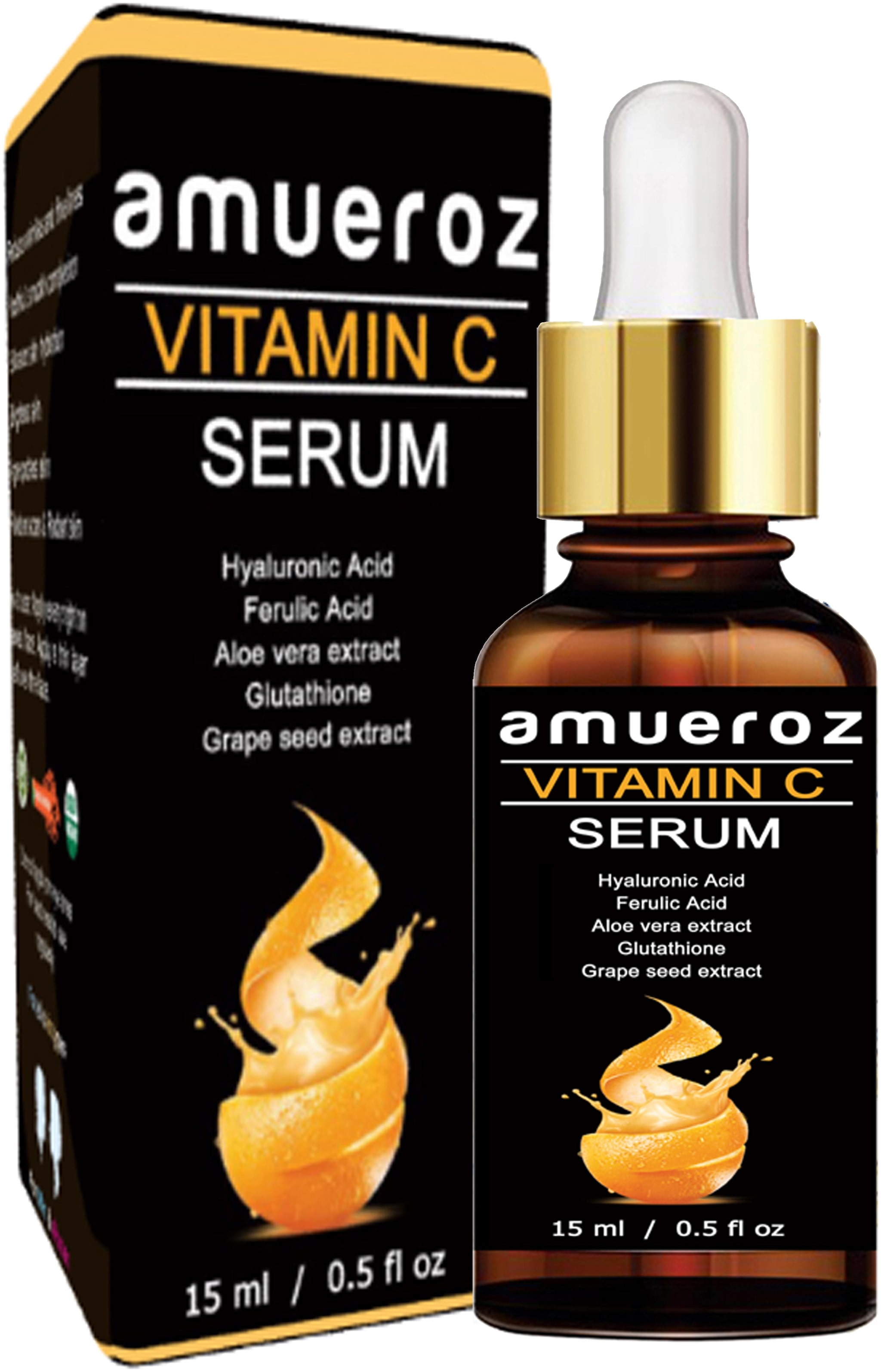 Amueroz Vitamin C Face Serum/ Skin Whitening/ Wrinkle Reducer/ Anti Aging & Anti Acne/ Face Pigmentation & Oily Skin 15 ml ( Pack of 1 )
