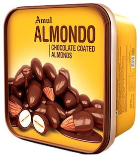 Amul Almondo - Roasted Almonds Coated With Milk Chocolate 200 g