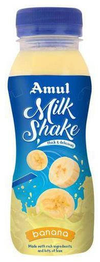 Amul Banana Milk Shake 200 ml