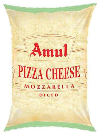 Amul Cheese - Mozzarella, Diced 1 kg