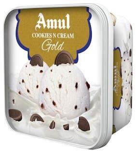 Amul Cookies N Cream Gold Ice Cream 1 L