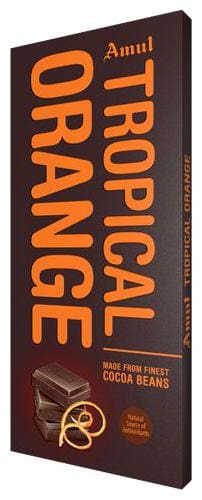 Amul Dark Chocolate Tropical Orange 150 g