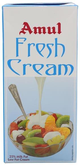 Amul Fresh Cream - 25% Milk Fat Low Fat 1 L