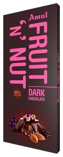 Amul Fruit N Nut, Dark Chocolate- 55% Rich In Cocoa 150 gm