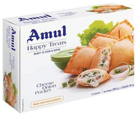 Amul Happy Treats Ready to Cook & Serve - Cheese Onion Pockets 300 g