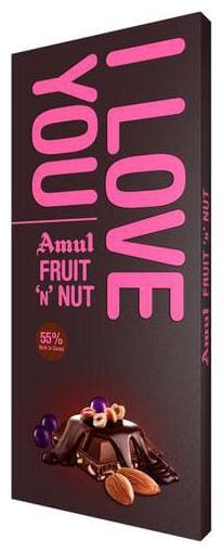 Amul I Love You Fruit N Nut Chocolate 150 g
