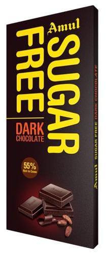Amul Sugar Free Dark Chocolate 55% Rich In Cocoa 150 g