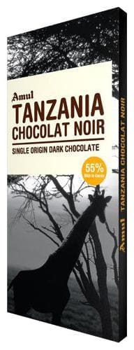 Amul Tanzania Chocolat Noir  Single Origin Dark Chocolate 55% Dark 125 g