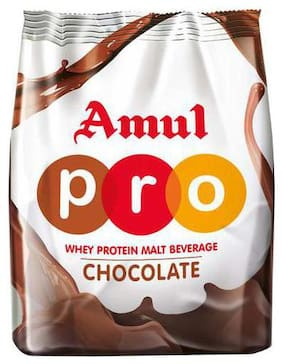 Amul Whey Protein - Malt Beverage Health Drink With Dha - Chocolate 500g