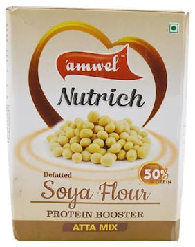 Amwel Atta Mix - Defatted Soya Flour, Protein Booster 500 g