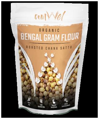 Amwel Bengal Gram Flour [Roasted Chana Sattu] 500 g (Pack of 2)