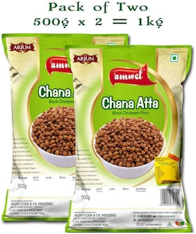 Amwel Chana Atta (Black Chickpeas Flour) - 500g (Pack of 2)