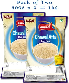 Amwel Chawal Atta (Rice Flour) - 500g (Pack of 2)