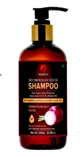 Anagh Red Onion With 100 % Natural Ingredient Shampoo For Men & Women 300 ml