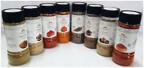 Ananta Spices & Herbs Combo of Haldi  Dhaniya  Lal Mirch  Kuti Mirch  Amchoor  Garam Masala  Chaat Masala & Jeera Saboot (100g Each)