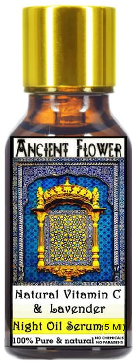 Ancient Flower Natural Vitamin C and lavender Night Face Serum 5 ml (Pack Of 1)