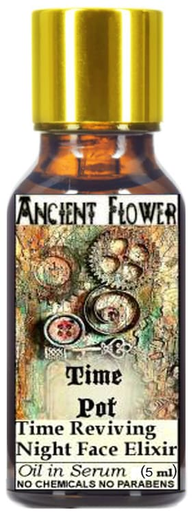 Ancient Flower Time Pot Anti Ageing Night Face Elixer Oil In Serum 5 ml (Pack of 1)