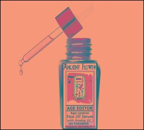 Ancient Flower - Age Editor - Age Control Face oil Serum - with Rosehip Oil  (10 ml)