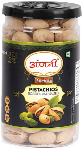 ANJANI SUPERFOODS Roasted & Salted Pistachio In Jar  100g