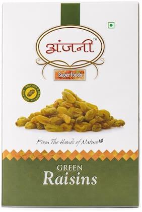 ANJANI SUPERFOODS Plain Green Raisin In Box, 100g