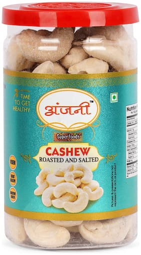 ANJANI SUPERFOODS Roasted & Salted Cashew In Jar, 100g