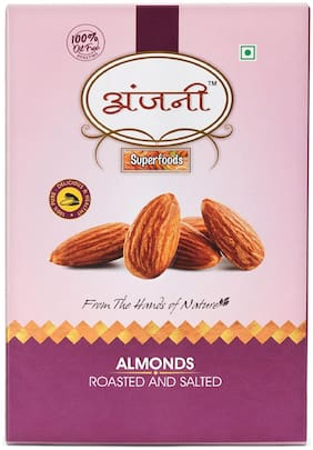 ANJANI SUPERFOODS Roasted & Salted Almonds In Box  100g