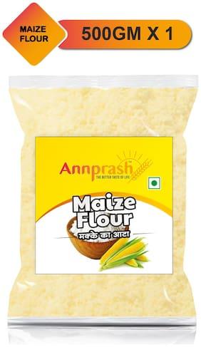 Annprash Premium Quality Maize Flour/Corn Flour / Makka Atta -500g (Pack Of 1)