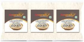 Annprash Premium Quality Chestnut Flour/ Singhara Atta 1 kg (Pack of 3)