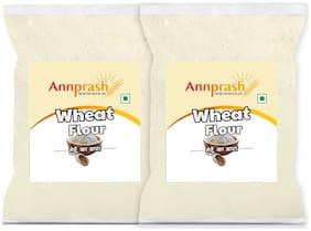 Annprash Premium Quality Wheat Flour / Gehun Atta -1Kg (Pack Of 2)