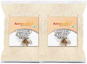Annprash Premium Quality Barley Flour/ Jau Aata 1 kg (Pack of 2)