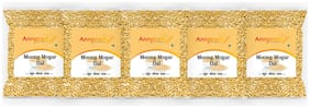 ANNPRASH Premium Quality Moong Mogar Dal Split 500g (Pack Of 5)