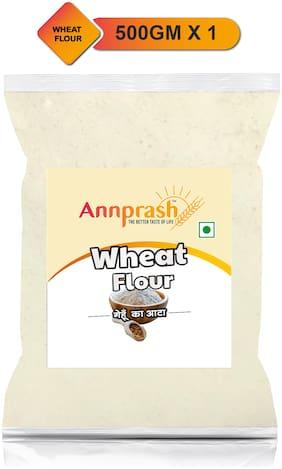 Annprash Premium Quality Wheat Flour / Gehun Atta -500g (Pack Of 1)