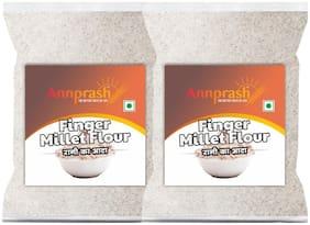 Annprash Premium Quality Finger Millet Flour / Ragi Aata 500 g (Pack of 2)