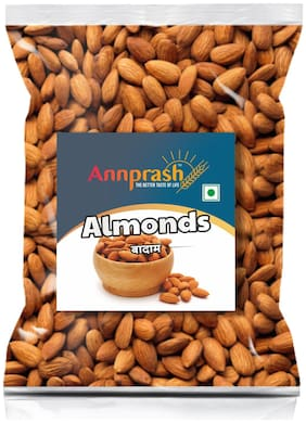 ANNPRASH PREMIUM QUALITY ALMONDS/ BADAM 500g (Pack of 1)