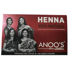 Anoos Natural Henna Herbal 100g (Pack of 6)