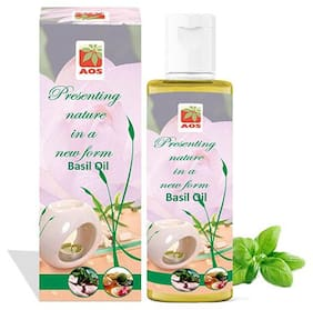 AOS Products 100% Pure Basil Oil (200 ml)