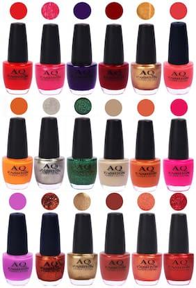 AQ Fashion Hot Shade Gel Nail Polish Combo 972 Pack Of 18