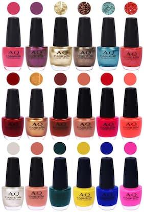 AQ Fashion Hot Shade Gel Nail Polish Combo 982 Pack Of 18